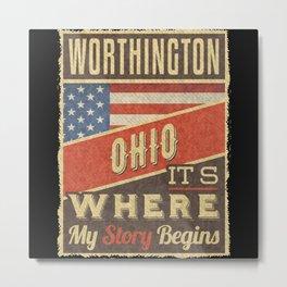 Worthington Ohio Metal Print
