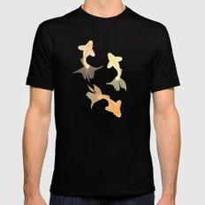 Goldfish pattern MEDIUM Mens Fitted Tee Black