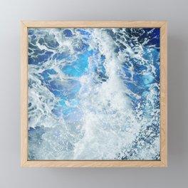 Perfect Sea Waves II Framed Mini Art Print