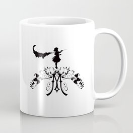 Girl with feather M Coffee Mug