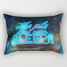 NEW YORK NEVER SLEEPS Rectangular Pillow