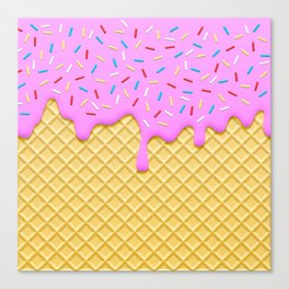 Strawberry Ice Cream Canvas Print