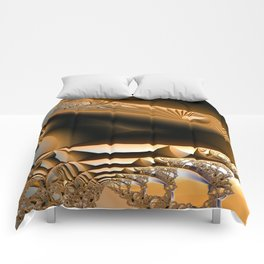 Golden layers of mysterious details Comforters