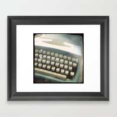 Blue Typewriter TTV Framed Art Print