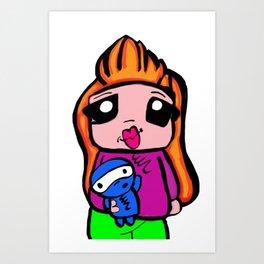 cute toon  Art Print