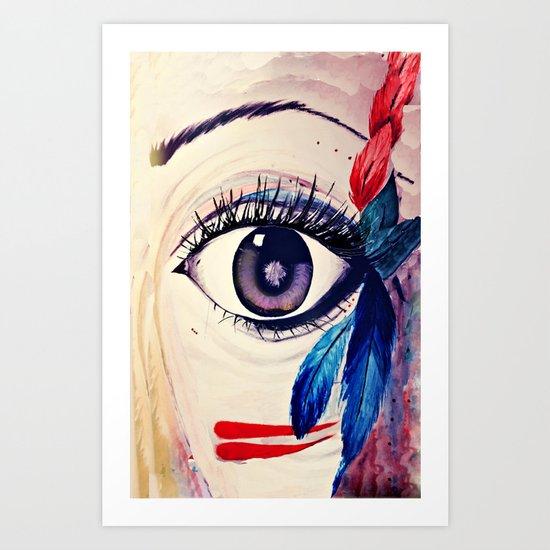 native american eye Art Print