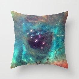 Colorful Nebula Galaxy Throw Pillow