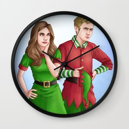 Fitzsimmons - Holiday Elves Wall Clock