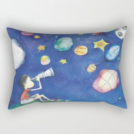 Stars and little planets Rectangular Pillow