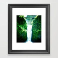 Multnoman falls, OR Framed Art Print