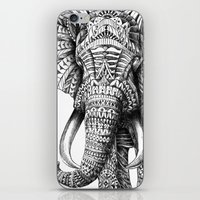 ben giles iPhone & iPod Skins featuring Ornate Elephant by BIOWORKZ
