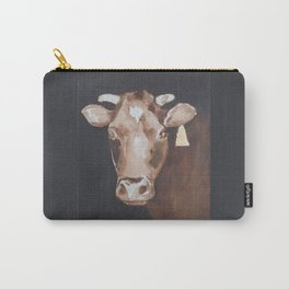 Gold Earring - Cow portrait Carry-All Pouch