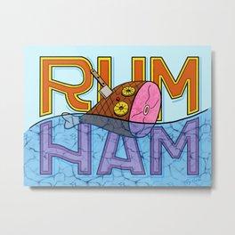 Rum Ham Metal Print