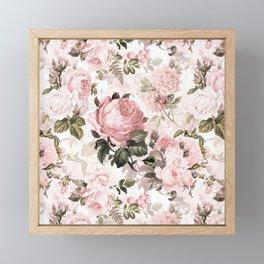 Vintage & Shabby Chic - Sepia Pink Roses Framed Mini Art Print