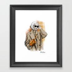 Fall fashion Framed Art Print