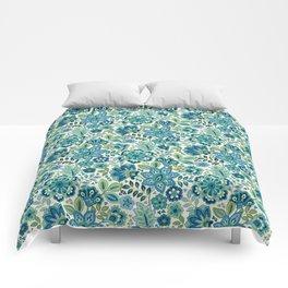 Blue Floral Comforters