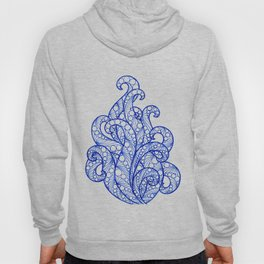 Blue ultramarine sea flourishes Hoody