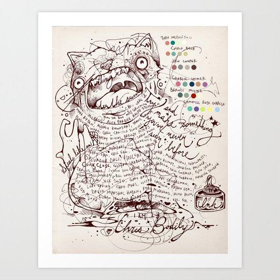 Make a name for yourself Art Print