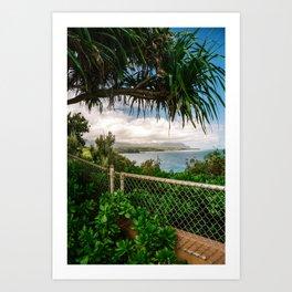 Kilauea Lookout Kauai Hawaii | Tropical Beach Nature Ocean Coastal Travel Photography Print Art Print