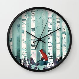 The Birches Wall Clock