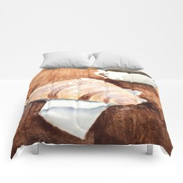 Croissant and Coffee Comforters