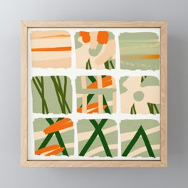 Green orange paint Framed Mini Art Print