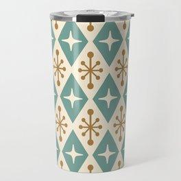 Mid Century Modern Atomic Triangle Pattern 102 Travel Mug