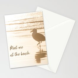 Meet Me at the Beach (typography) Stationery Cards