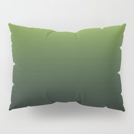 Ombre | Lime Green and Charcoal Grey Pillow Sham