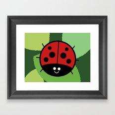 Cutesy Crawlies — Ladybird Framed Art Print