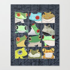 Frogs vertical Canvas Print