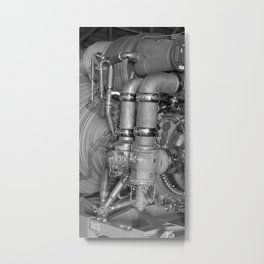 F-1 Engine for the Saturn V S-IC Metal Print