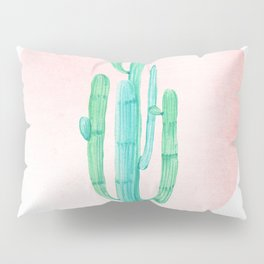 Desert Cactus Green with Rose Gold Sun Pillow Sham