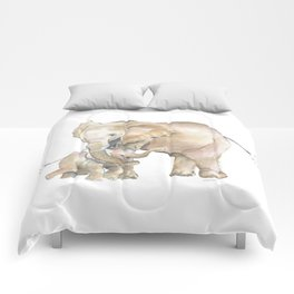 Mother's Love - Elephant Family Comforters