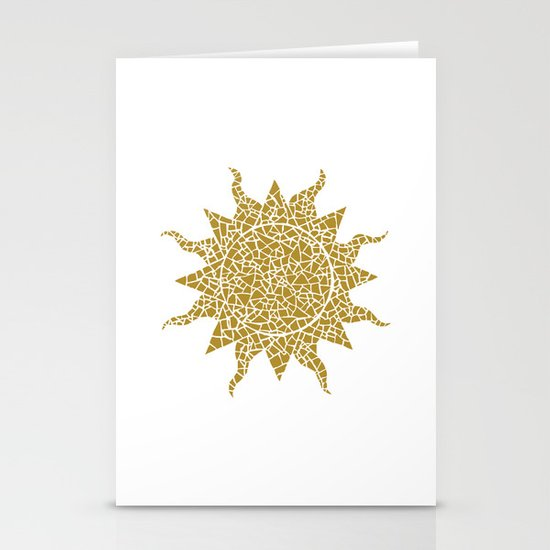 Mosaic Sun Stationery Cards