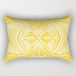 Solana, fall golden mandala Rectangular Pillow