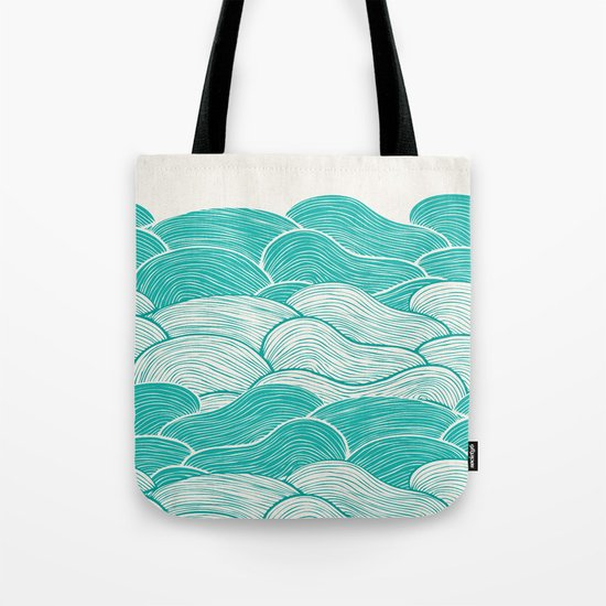 The Calm and Stormy Seas Tote Bag