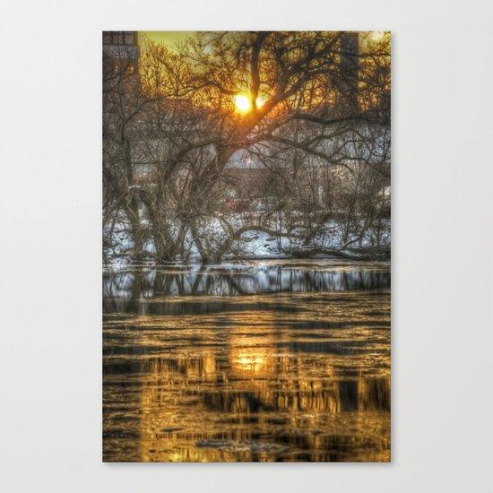 Berlin winter sunset Canvas Print