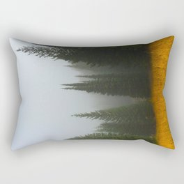 Olive Green Pines Rectangular Pillow