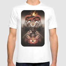 Pyropriest MEDIUM Mens Fitted Tee White