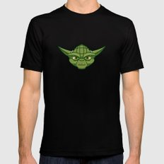 #47 Yoda LARGE Black Mens Fitted Tee