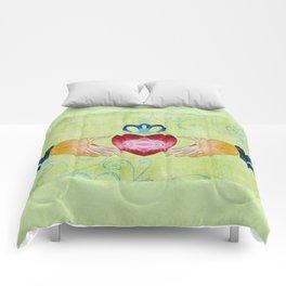 Colorful Inspirational Art - Friendship - Sharon Cummings Comforters