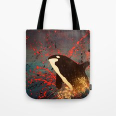 Whale Outbreak Tote Bag