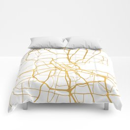 NASHVILLE TENNESSEE CITY STREET MAP ART Comforters