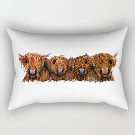 HiGHLaND CoW PRiNT SCoTTiSH ' THe GiNGeR NuTS ' BY SHiRLeY MacARTHuR Rectangular Pillow