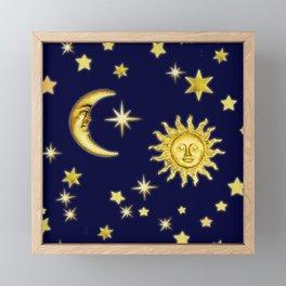 Sun, Moon & Stars Framed Mini Art Print