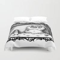 larry Duvet Covers featuring Scary Larry by stco