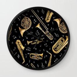 Instrument Saxophone Jazz Wall Clock