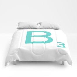 Custom Blue Scrabble Letter B Comforters