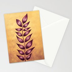 Abstract Plant With Purple Leaves Stationery Cards